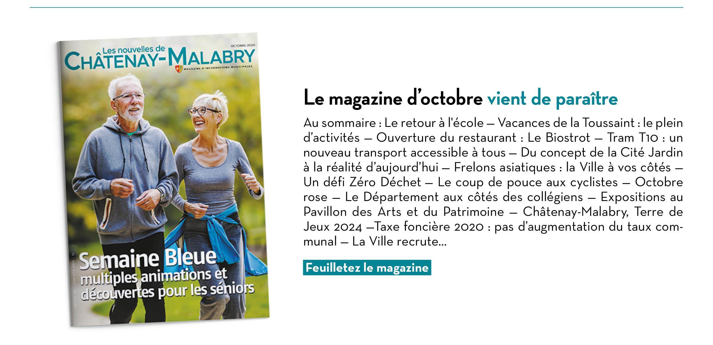 Le magazine d'octobre vient de paraître