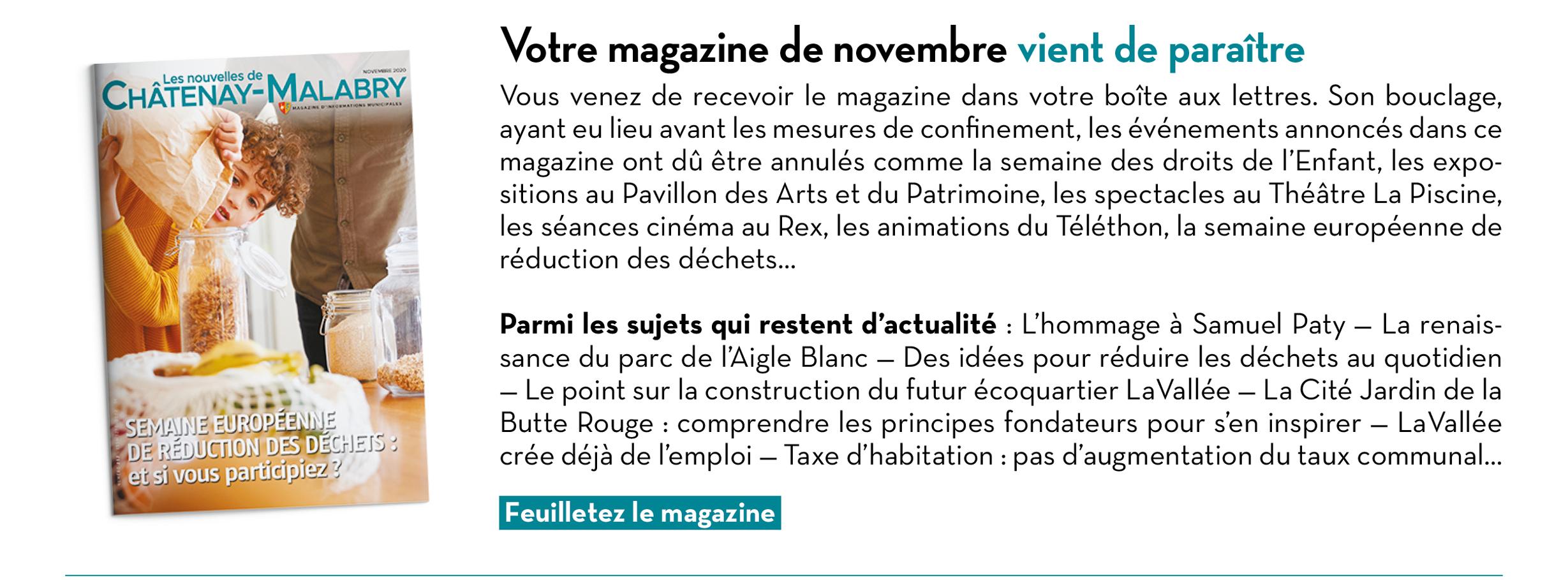 Votre magazine de novembre vient de paraître