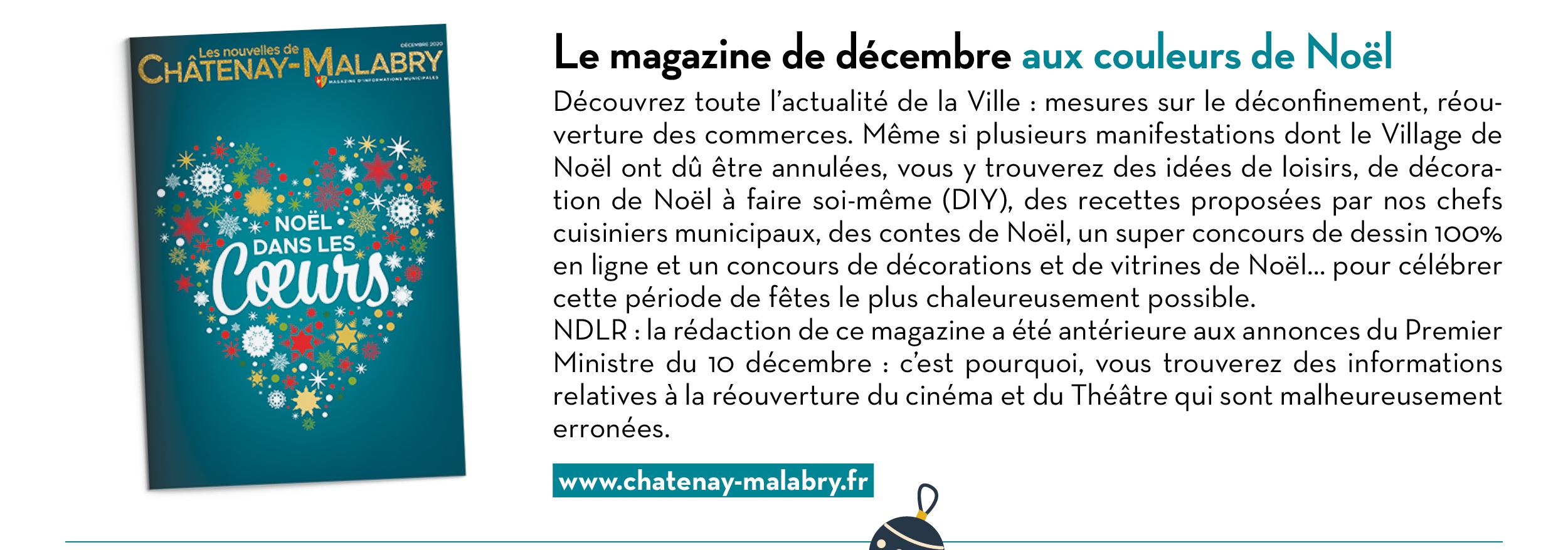Le magazine de décembre aux couleurs de Noël