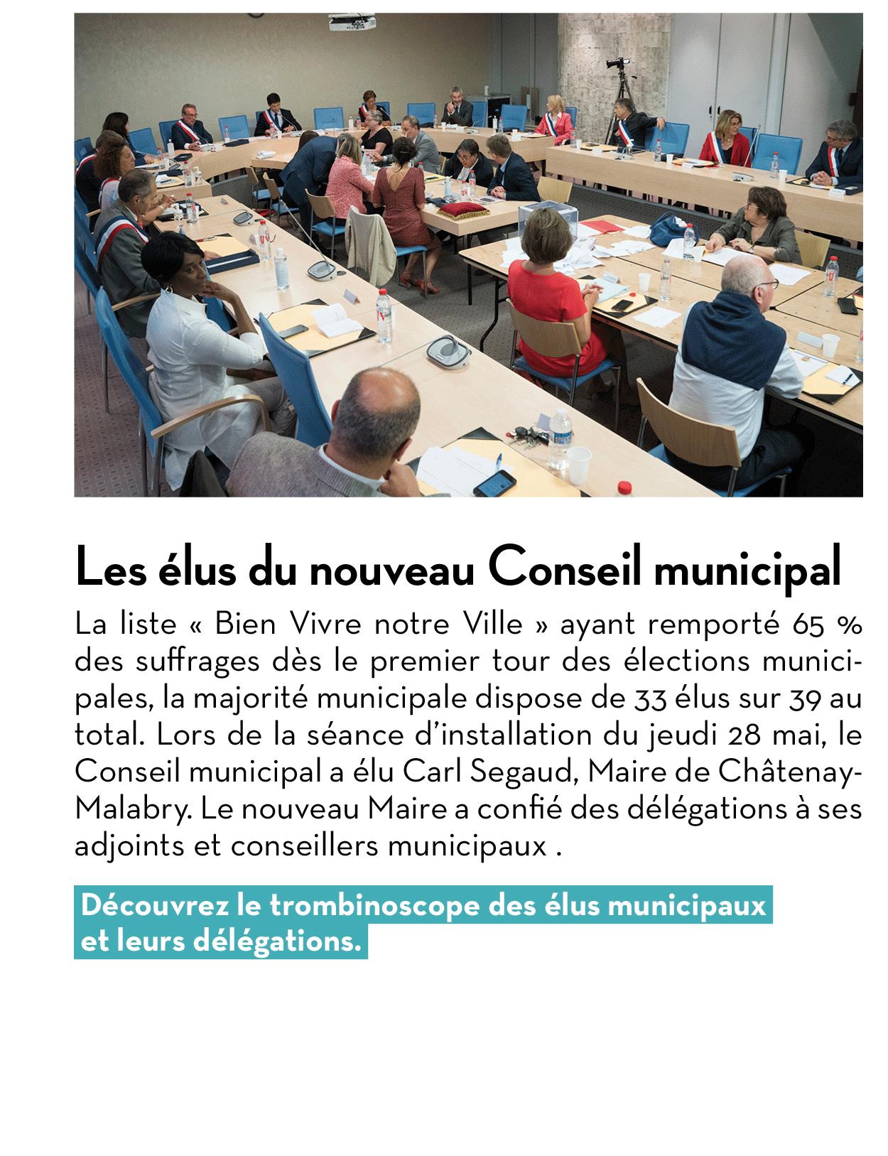 Les élus du nouveau Conseil municipal