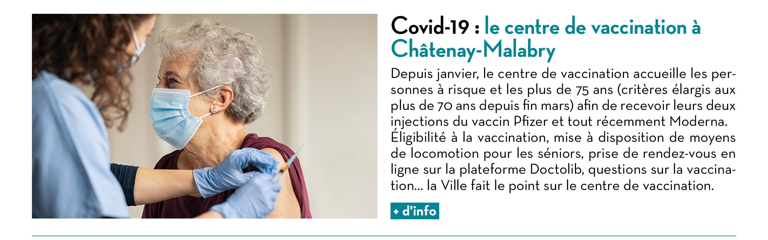 Covid-19 : le centre de vaccination à Châtenay-Malabry