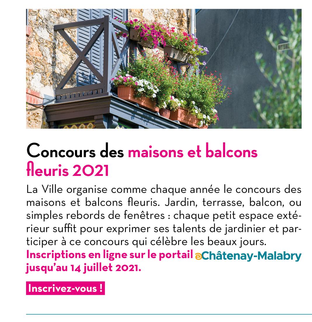 Concours des maisons et balcons fleuris 2021