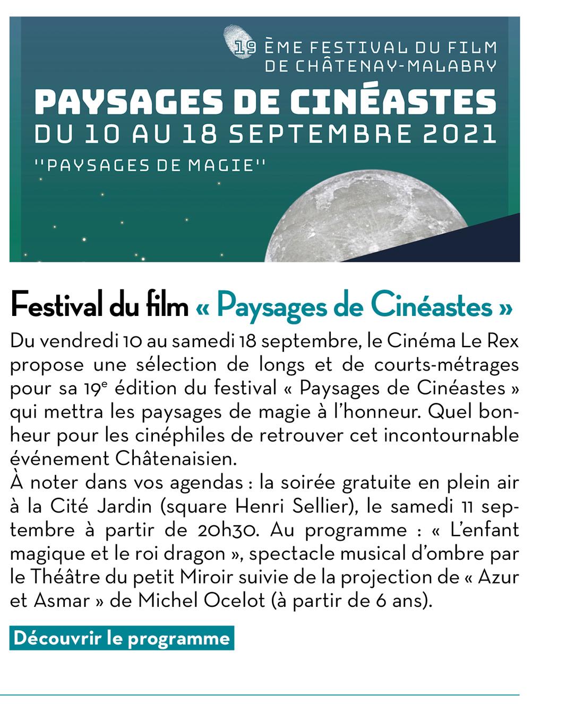 Festival du film « Paysages de Cinéastes »