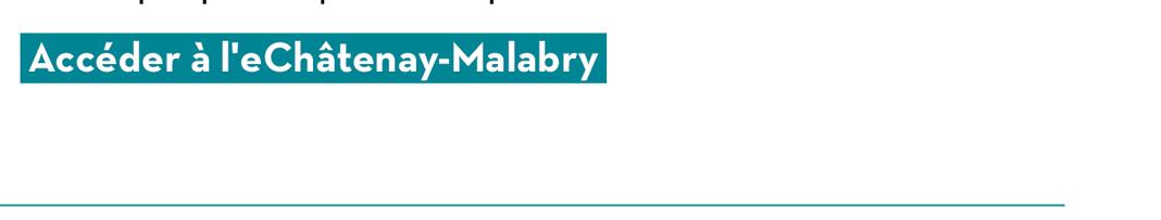 Accéder à l'eChâtenay-Malabry